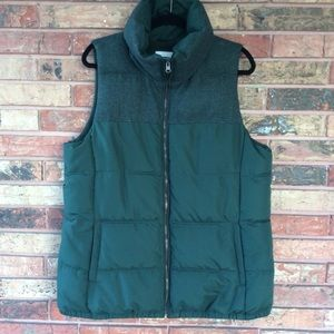 Old Navy Men's XL Green Puffer Vest Fleece Lined